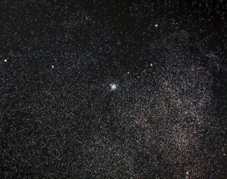 Milky Way and M11 Wild Duck Star Cluster 天の川 と M11