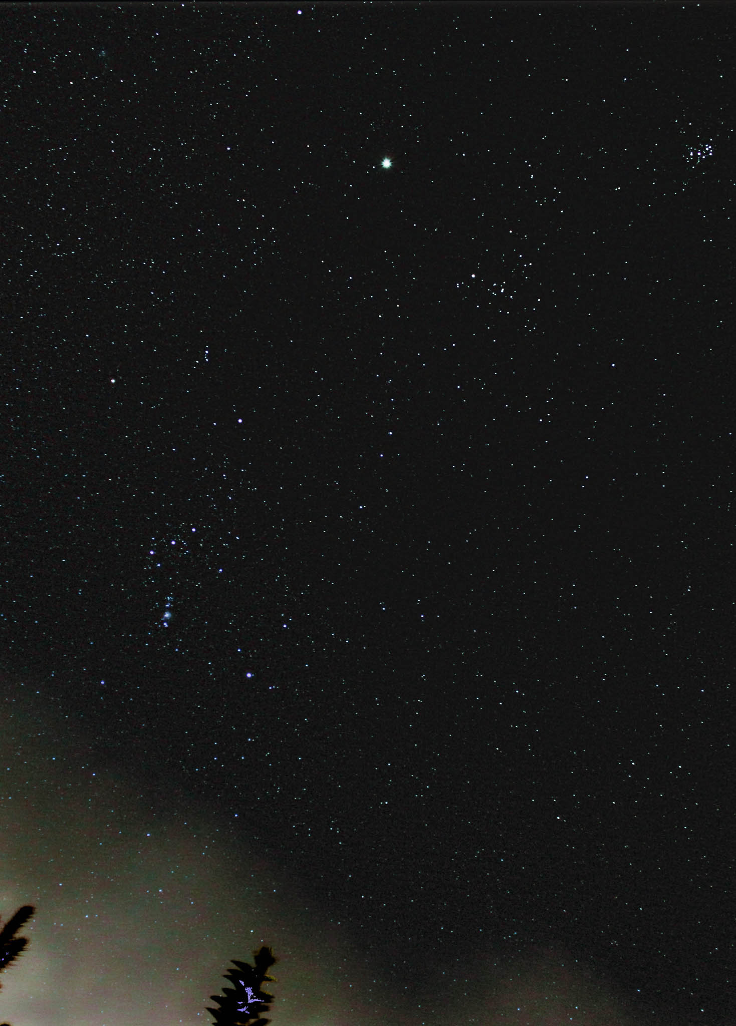 Orion, Pleiades and Jupiter