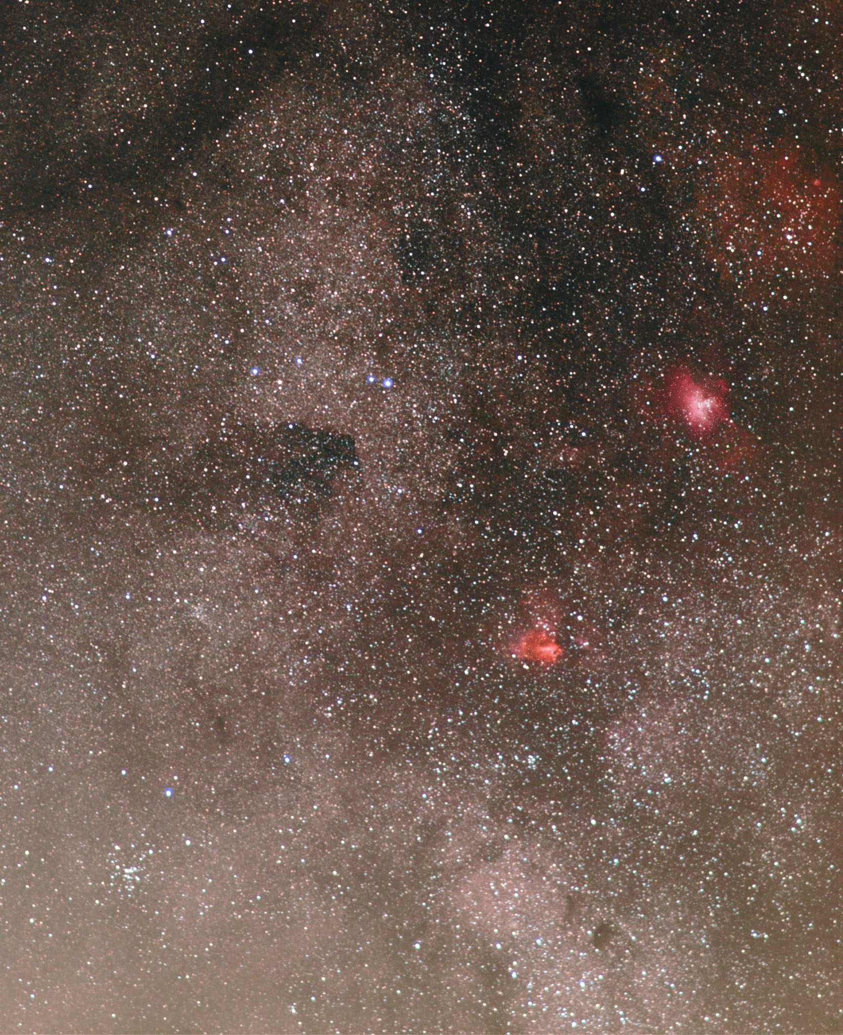 Eagle and Omega Nebulae M16 & M17 Open Clusters M18, M24 and M25