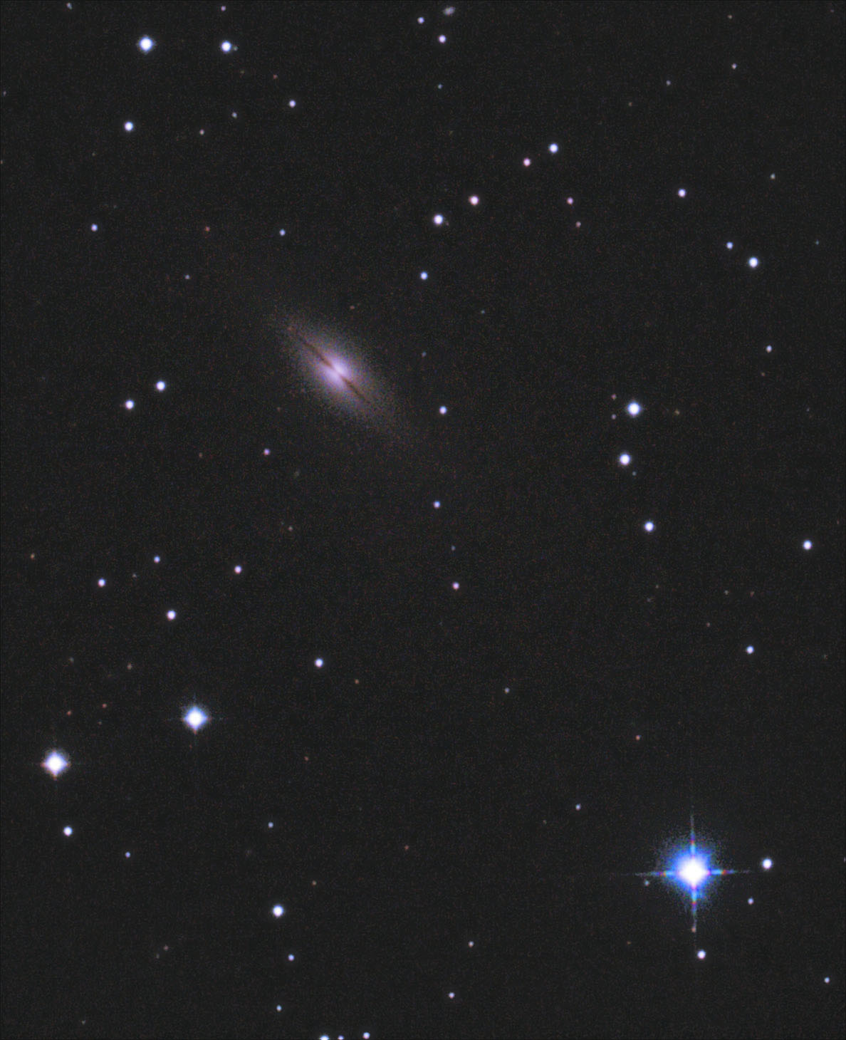 NGC7814  in the Constellation  Pegasus