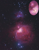 M42 Great Orion Nebula and NGC1977 Running Man Nebula